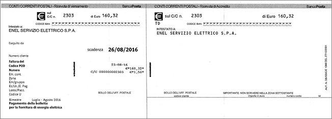 Compilazione del bollettino postale - Passo per passo